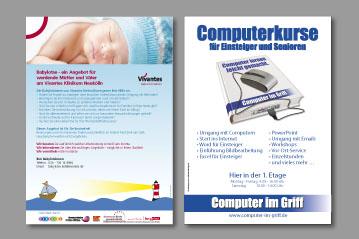 Printmedien und Drucksachen: Visitenkarte, Briefpapier, Flyer, Broschüren, Kataloge, Plakate
